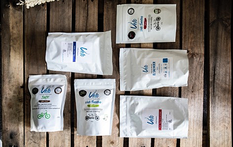 Velo Coffee Bags on Pallet